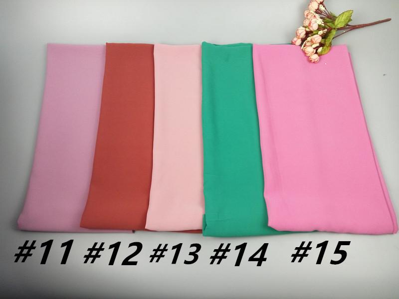 A 58 50pcs Big Size 18085cm Top Sale Plain Bubble Chiffon Hijab