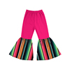 Die lian hua serape prints full length baby boutique clothes diaper pants baby