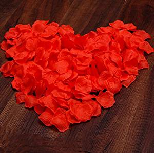 100pcs/Pack Simulation Rose Red Flower Petals Leaves Wedding Decorations Party Festival Table Confetti Decor