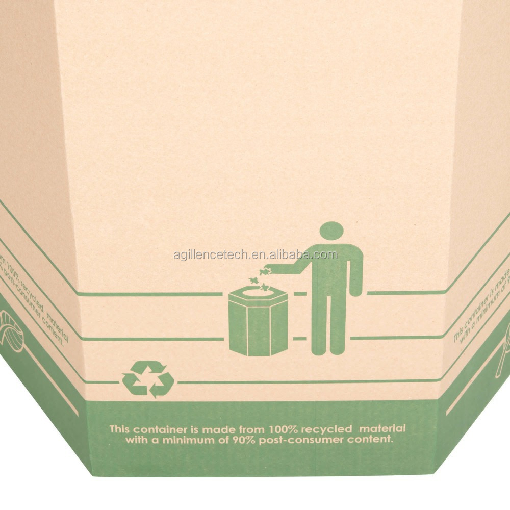 It Is For Ten Pieces Of Trash Box Corrugated Cardboard 70l Sectional Exterior Events