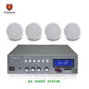Chnlan 60w mini bluetooth amplifier+5w ceiling speaker for home theatre mini pa sound system
