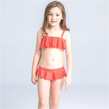 Custom Little Girls Model 수영복 Open Sexy Print Bikini Sexi 비치웨어 Tiny Bikini Cute Young Girl Kids 확 사로잡은 주인공 Bikini