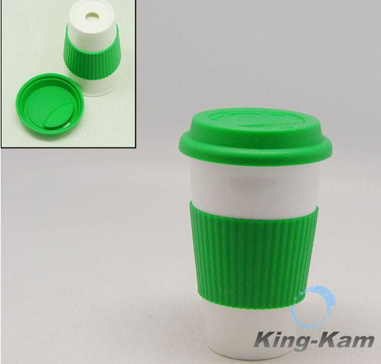 Colorful Silicone Sleeve For 300cc Ceramic Coffee Cup