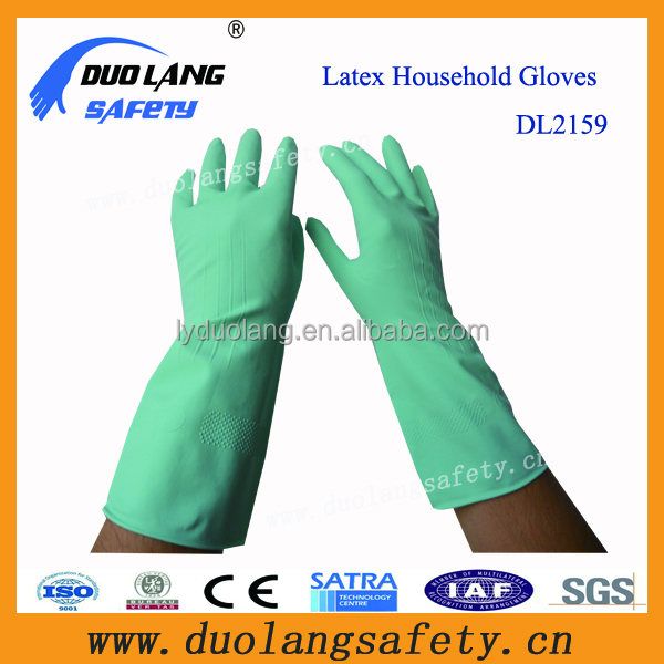 Long Cuff Kitchen Latex Household Gloves