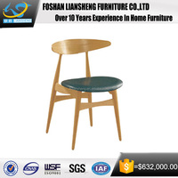 Solid Wood Furniture European Dining Chair Modern Dark Brown Handsome Chair