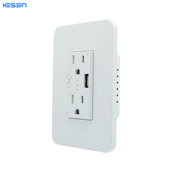 No Hub Control USB Plug Outlet Energy Monitoring Smart Wifi Switch Receptacle
