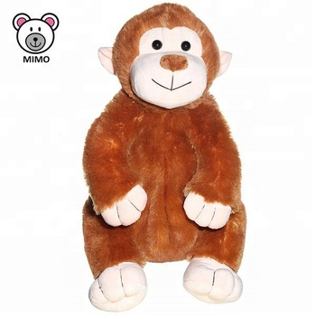 Fluffy Fur Soft Plush Monkey Kids Backpack Promotion Gift Custom 3D Cartoon  Stuffed Wild Animal Children 2ded070ea7f1b
