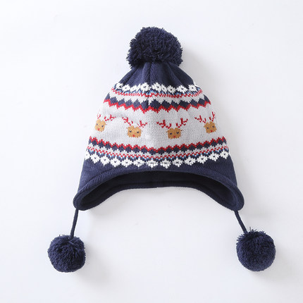 2018 New Cute Knitted Crochet Hat For Kids Multicolor Christmas Beanie Winter Warm Ear Flap Beanie