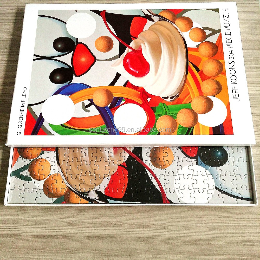 sublimation coating puzzle 204pcs jigsaw manufactory