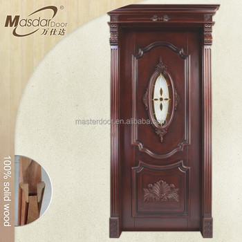 Kerala Modern Glass Insert Wooden Front House Door Designs