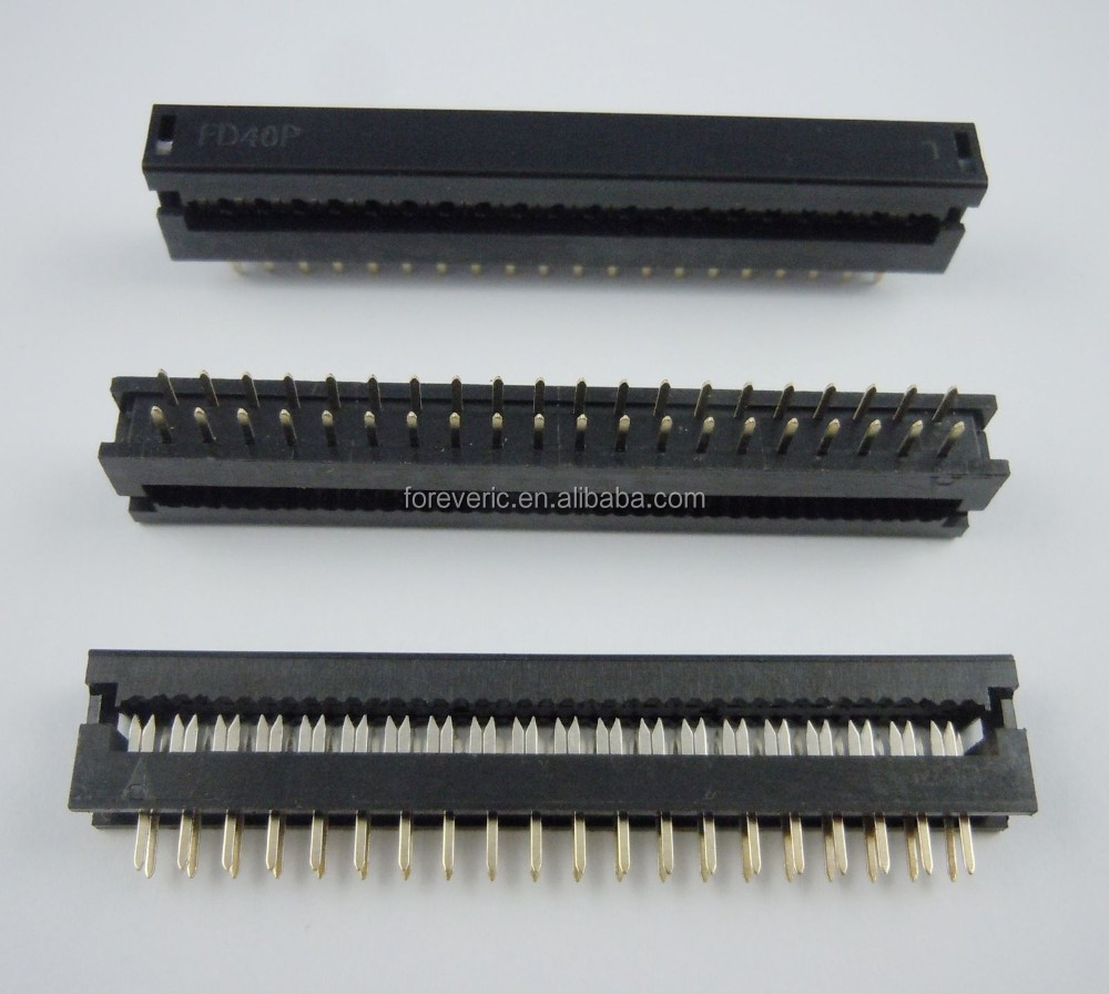 2.54m Pitch 2x20 Pin 40 Pin Male Header IDC Ribbon Cable Transition Connector