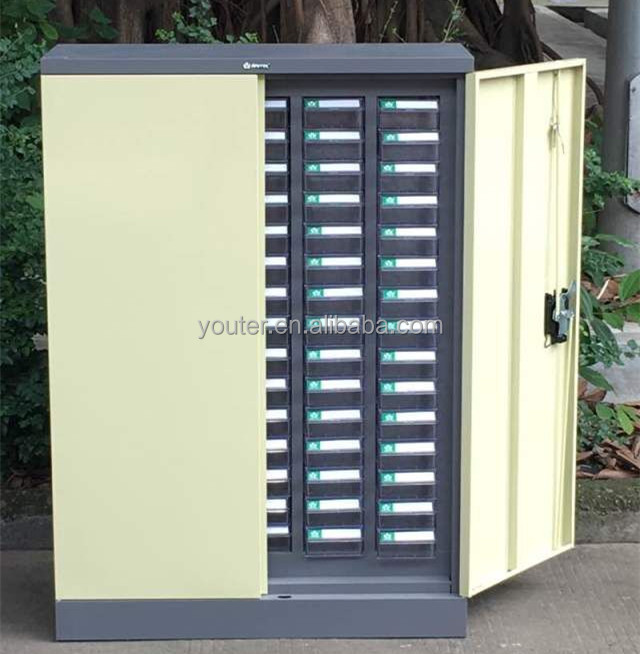 Plastic drawer spare parts metal storage <strong>cabinet</strong> with door