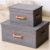 New Style Design Linen Rectangle Collapsible Clothes Storage Box with Lids