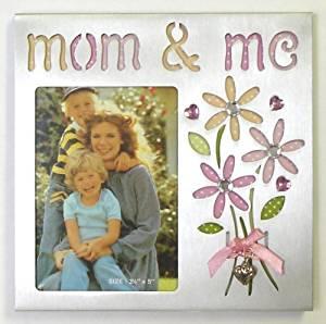 "(AL34135) 3½×5 ""Mom & Me"" w/Flowers & Acrylic Petals (Item # 925)"