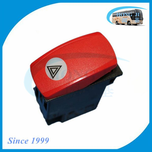 Guangzhou bus spare parts hot sale bus emergency light rocker switch