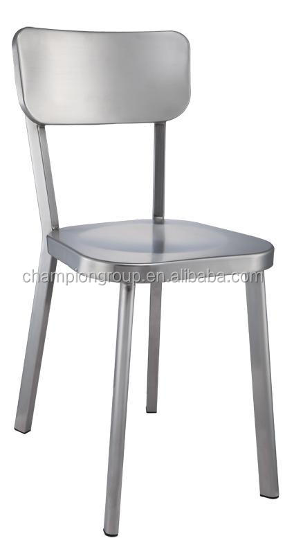 Hotel Metal Stacking Chair Stainless Steel Bar Chairs Mx 0756