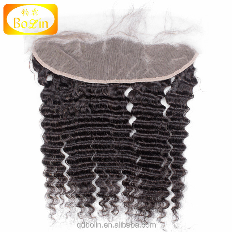 fast shipping 130 density 100% human hair hand-tied 13x4 lace frontal hair pieces