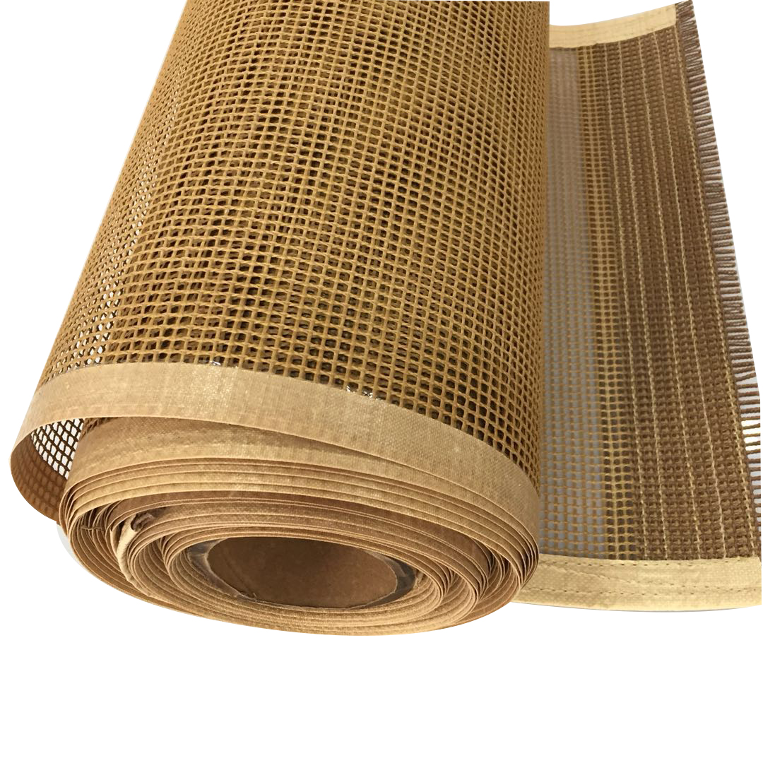 High temperature resistance ptfe teflon coated fiberglass mesh conveyor belt for food conveyor