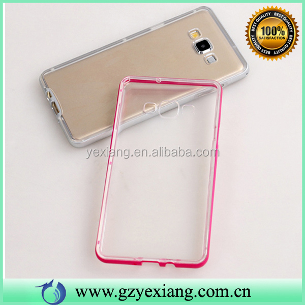 Gold TPU+PC Bumper Protective Transparent Phone Case For Samsung Grand Prime G530