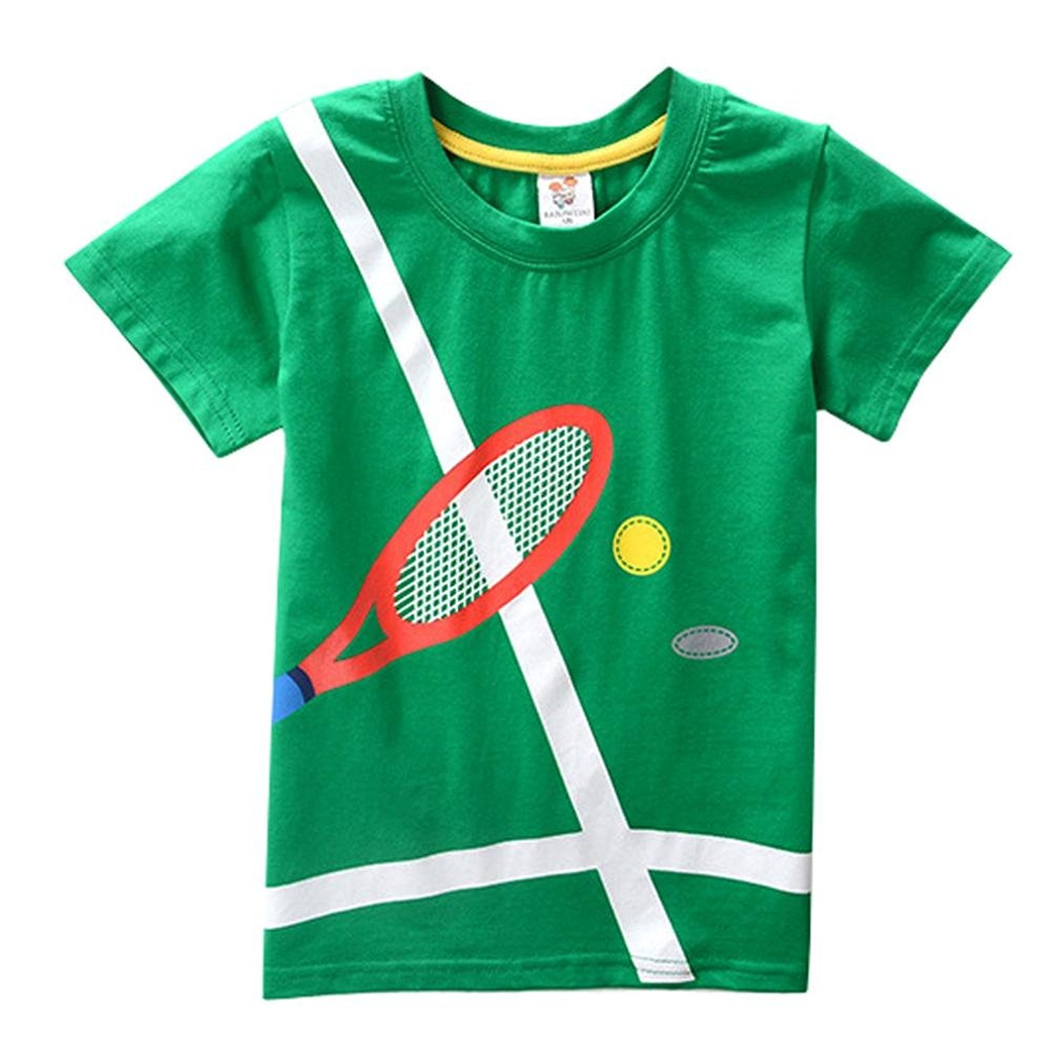 Toddler Kids Baby Boys Girls Clothes Short Sleeve Tops Blous 1-5 Years Pollyhb Baby Boy Girl T-Shirt