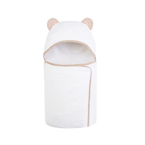 super soft Cotton Plain Color Terry Hooded Baby Bath Towel with embroidery