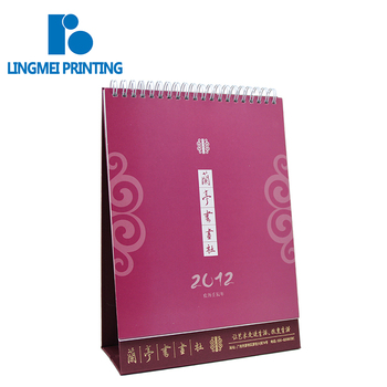 wholesale offset printing New design spiral binding paper custom stand table monthly calendar printing service for calendar