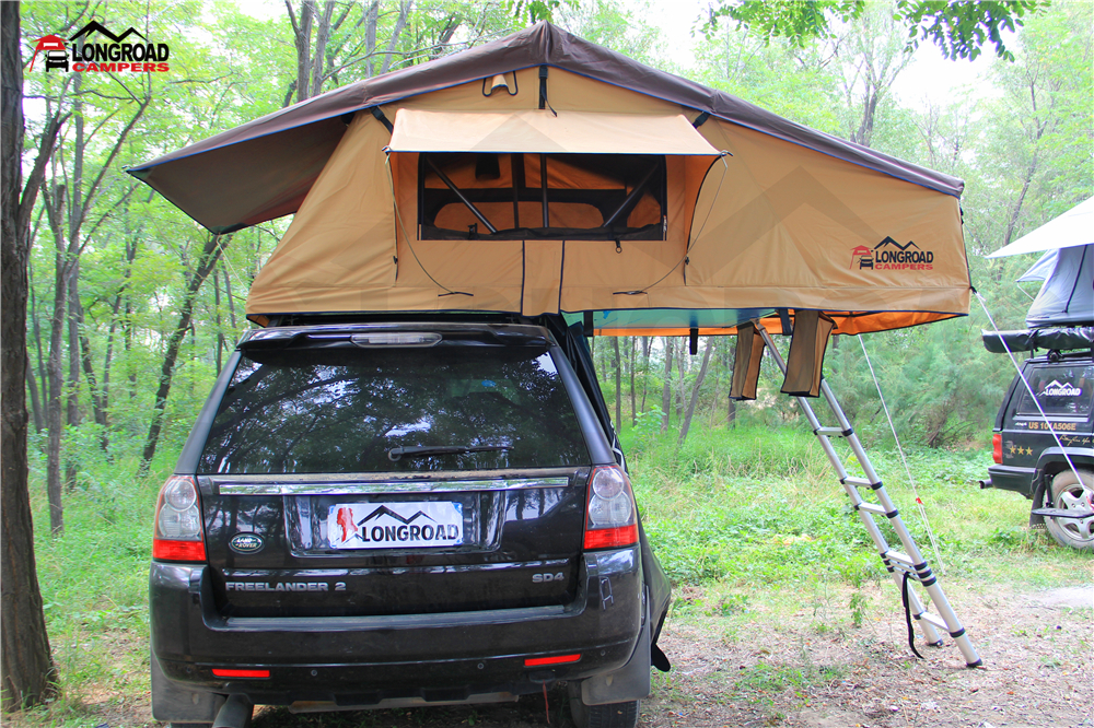 4X4 Outdoor Car C&ing Fabric Canvas Roof Top Tent & 4x4 Outdoor Car Camping Fabric Canvas Roof Top Tent - Buy Camping ...
