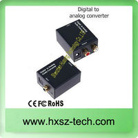 Digital to Analog audio converter Support optical/coaxial input 3.5mm audio and R/L Stereo Audio output
