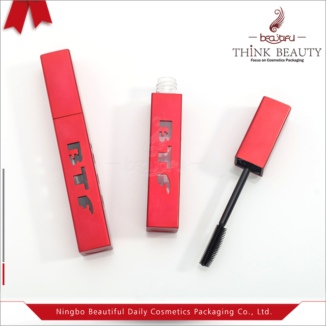 d16c1cdd4a8 Large Capacity 16ml Aluminum Matte Red Empty Square Mascara Bottle/Tube/ Packaging/Container