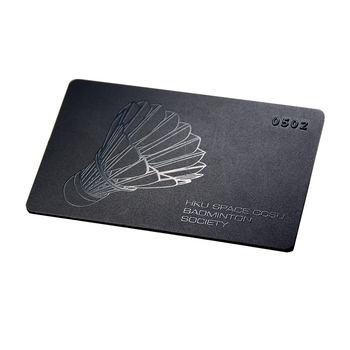 Matte/frosted black business cards metal membership cards