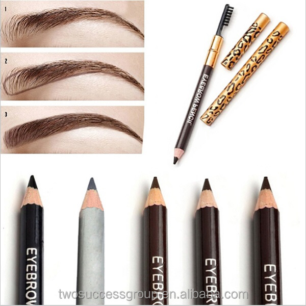 Makeup waterproof eyebrow pencil with brush long-lasting eye brow liner pencil extension stencils