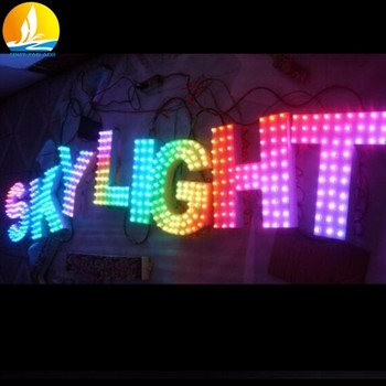Alphabet Letters Plastic Portable Long Life Metal Letter Fast Delivery Led Lights