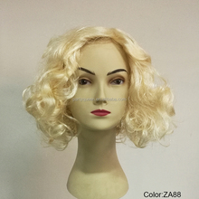 20s Retro short blond Diva party wigs P-W214