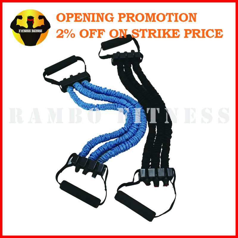Body Building Elastic Exercise Chest Expander Set