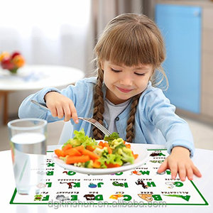 Disposable plastic kids placemats, table mat for children, place mat for baby