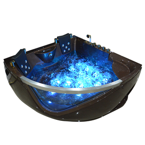 Bath supplies hot sale whirlpool massage corner jacuzi 2 person