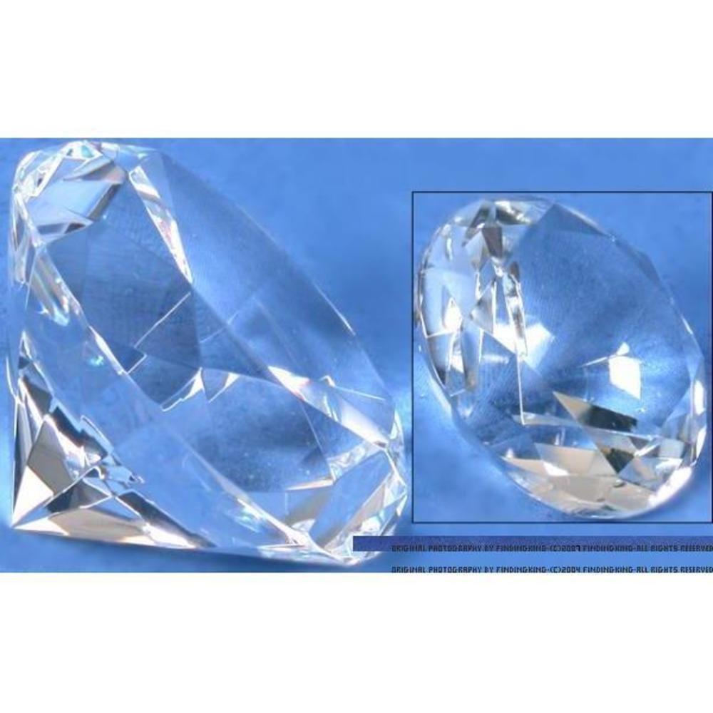 Crystal Diamond Showcase Jewelry Display Fixture 80mm