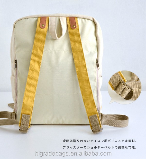 cheap canvas and leather backpack