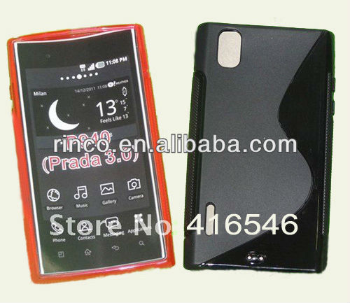 Soft TPU Gel Silicon Case Cover for LG P940 Prada 3.0 K2