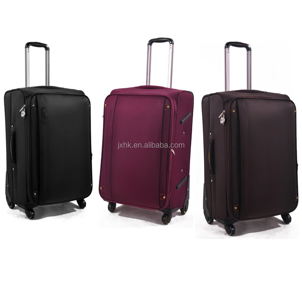hot selling cloth luggage soft fabric suitcase and carry on type trolley luggage