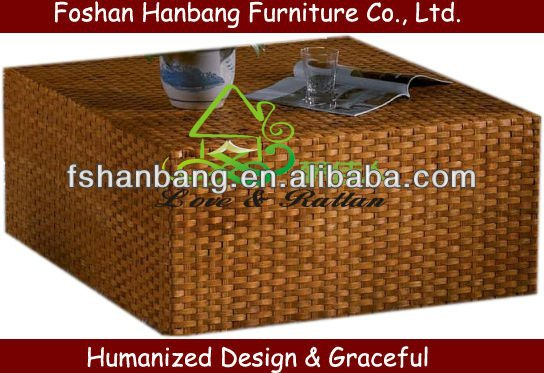 Modern Square Rattan Coffee Table