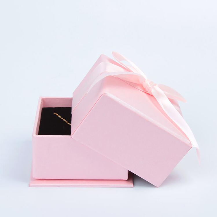 Wholesale Pink Custom Made Gift Square Paper Box Paper Jewelry Box