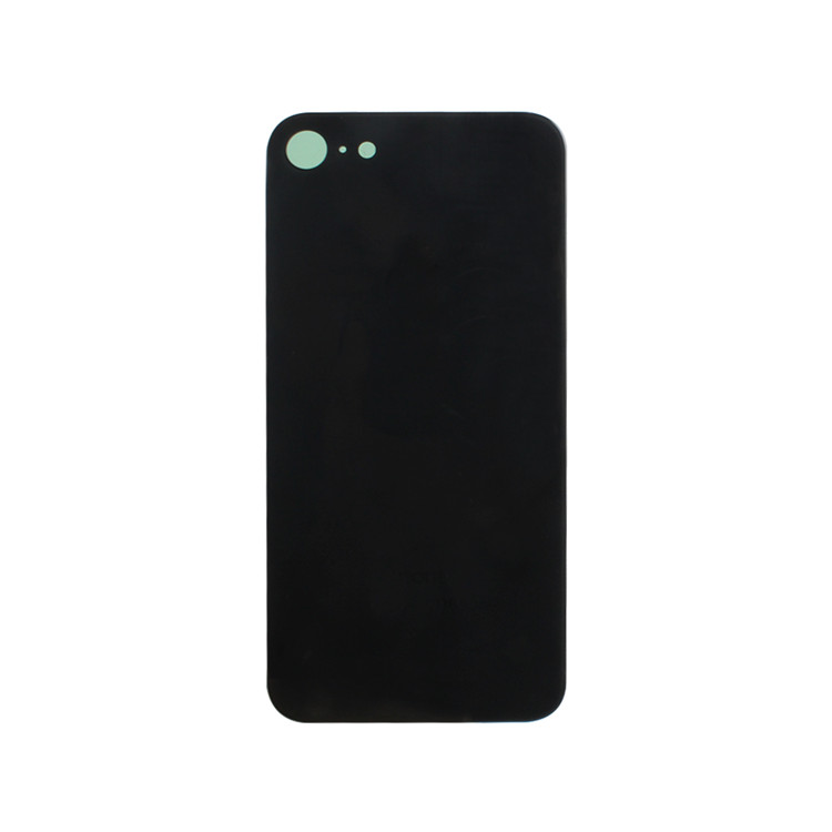 Black Phone Glass Replacement Back for Apple iPhone 8 Rear Battery Cover Case