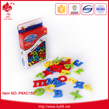 Plastic 33 pcs Russian magnetic letters toys magic magnet stick toy