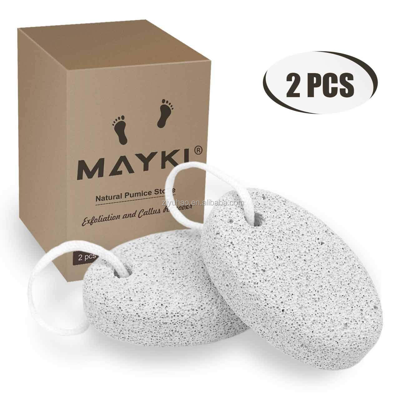 Pumice Stone 2 Pcs, Natural Lave Pumice Stone for Feet/Hand, Small Callus Remover/Foot Scrubber