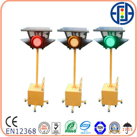 Moveable Solar Powered 300mm Traffic Signal Light With 4 Sides ...