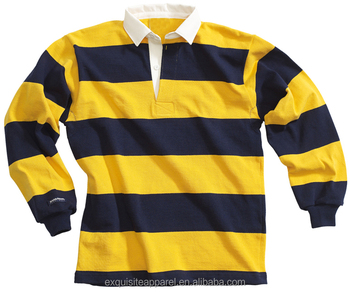 27a9ae1027d 100% Pre-Shrink Cotton Jersey Mens Classic Heavy Cotton Long Sleeve Rugby  Shirts /