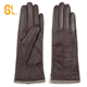 GL Brown Custom Car Driving Genuine Sheep skin leather Gloves for Women