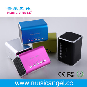 Music Angel JH-MD05 micro SD/TF card line in portable speakers usb drive downloadable mp3 songs