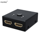 moniko hot selling hdmi transmitter high quality hdmi vga adapter hdmi splitter 1x2 for laptop